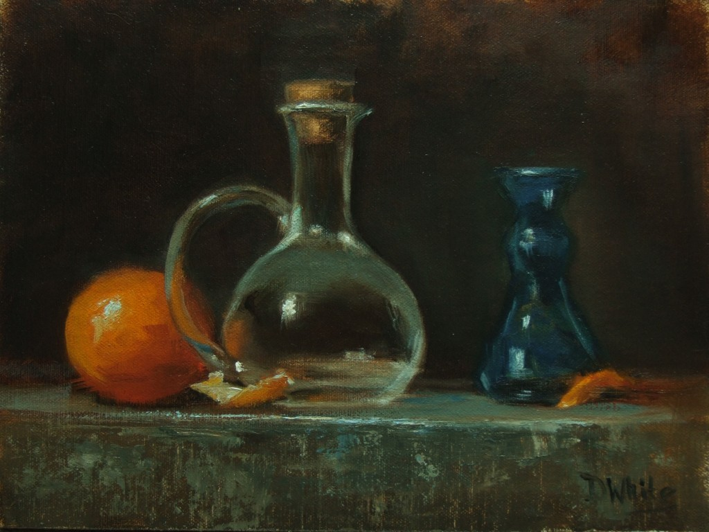 Orange and Glass  8 x 10
