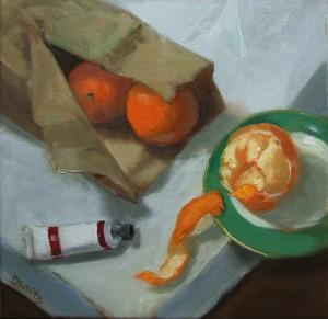 Oranges In Bag 12×12