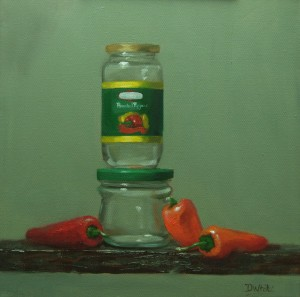 Roasted Peppers 12×12