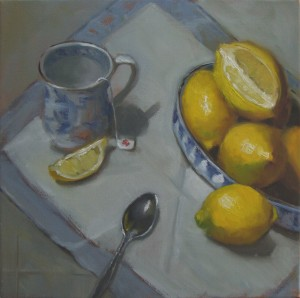 Tea With Lemon 12×12