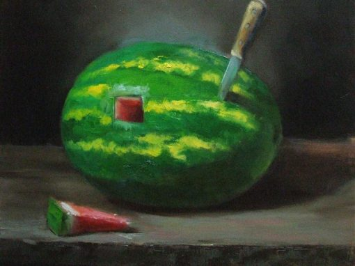 Cut of Watermelon   18 x 18