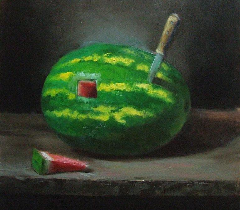 Cut of Watermelon   18 x 18