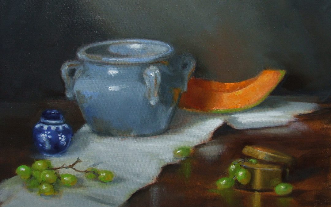Melon and Grapes  24 x 24