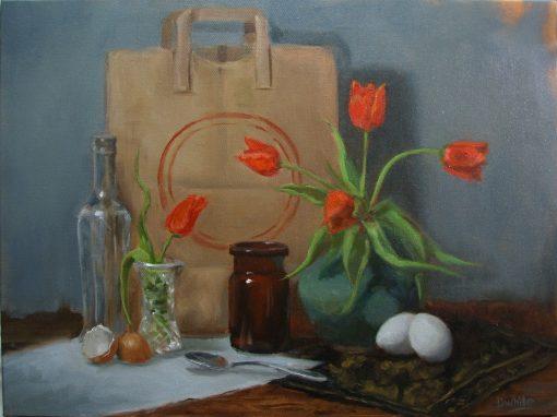 Orange Tulips  16 x 20