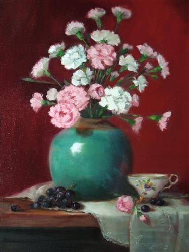 Pink Carnations  24 x 18