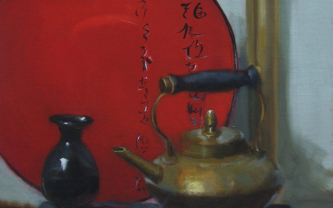 Red Plate  16 x 12