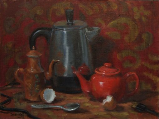 Three for Tea   12 x 16