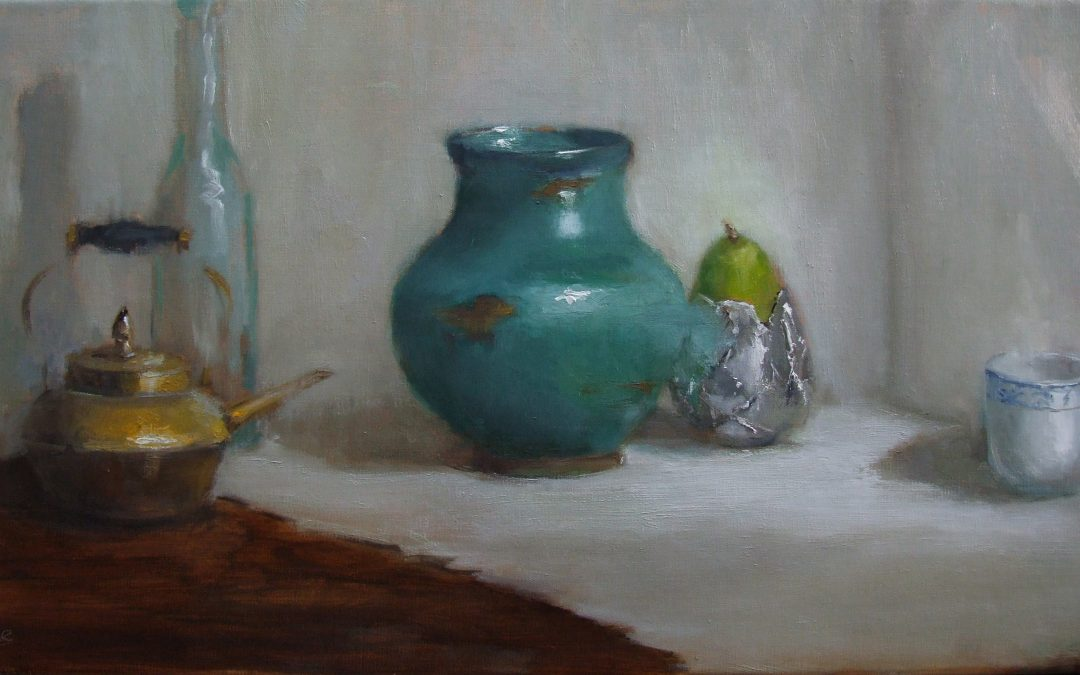 Pear and Vessels  12 x 24